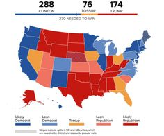 Results Of Canadian General Election By Bell Media Canada - Us map showing electoral votes