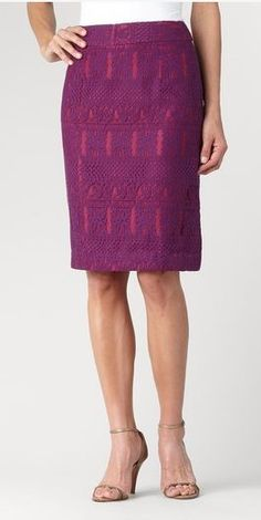 Lace Skirt with contrast lining by Coldwater Creek