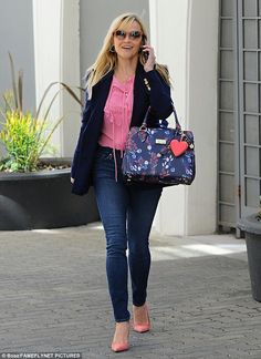 Stunner: Reese Witherspoon was spotted looking business casual chic while heading to her office in Los Angeles on Tuesday