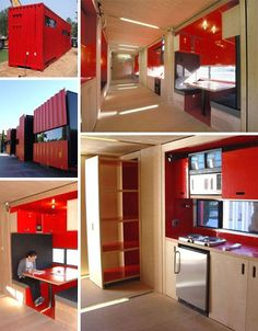 40-Foot Cargo Containers into Stylish Small-Home Spaces