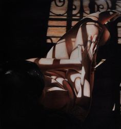Mary 1 (available through Sirona Fine Art Gallery ) (primitive nude dressed in abstract shadows), Victoria Selbach