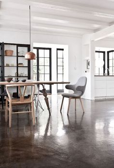 Love the black trim around the windows.  Material Matters | NordicDesign