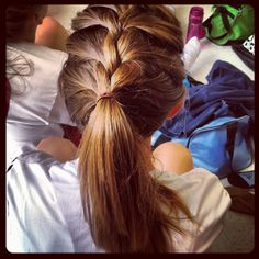 Quick and easy to fix and go and play a sports. It's a cool, not hair all over the place, easy hair style.