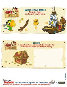 Jeux - Jeux Jake et les pirates du pays imaginaire à imprimer