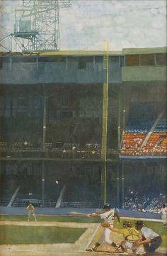 Detroit Tigers' Stadium, 1980 oil on linen