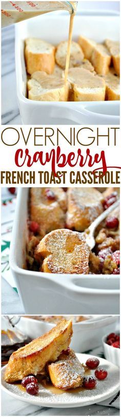 This Overnight French Toast Casserole is an easy make-ahead Christmas breakfast or brunch recipe that's perfect for the holiday season. #FestiveFlavors #ad @Target #frenchtoast