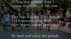Tomorrow is Sarge's Downtown Dog Walk, so here is a look back at the 2015 parade.