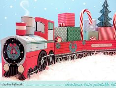 christmas train set favor box and party by claudinehellmuth
