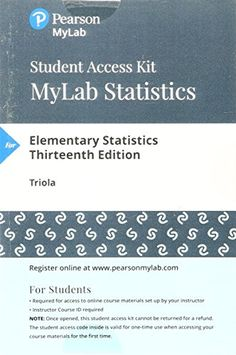 Elementary statistics 12th edition by mario f triola pdf free 134748530 mylab statistics with pearson etext standalone access card for elementary statistics fandeluxe Gallery