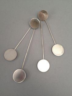 Decogirl DeS™ Sterling Silver atomic swing earrings