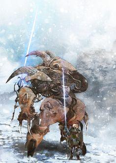 Siege Suit and Master Engineer, Aaron Nakahara on ArtStation at https://www.artstation.com/artwork/EJz3K