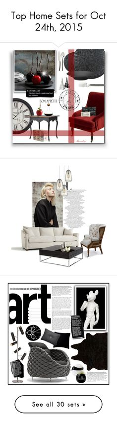 """""""Top Home Sets for Oct 24th, 2015"""" by polyvore ❤ liked on Polyvore featuring interior, interiors, interior design, home, home decor, interior decorating, Aspire Home Accents, Warehouse, Beekman 1802 and Apilco"""