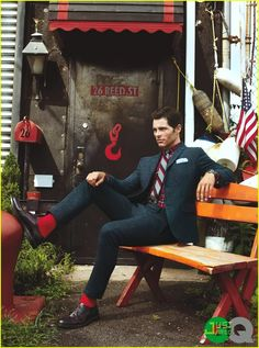 James Marsden rocks a brown Hickey Freeman suit in this feature for GQ 's September 2011 issue