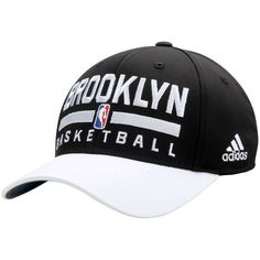 Brooklyn Nets adidas 2Tone Practice Structured Adjustable Hat - Black/White - $21.99