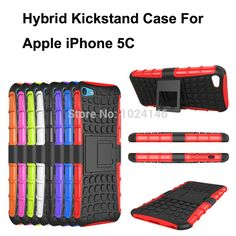 New Hybrid Heavy Armor Duty Impact Shockproof Hard Rugged Case Stand Holder Cover For Apple iPhone 5C