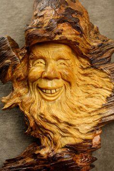"""Tibet the Wood Spirit, Wood Carving by Gary """"Wiz"""" Burns the Treewiz - by wiz @ LumberJocks.com ~ woodworking community"""
