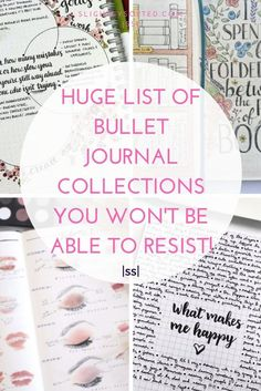 Here's one huge list of bullet journal collections with lots of examples! There are some really inspiring bullet journal collection ideas here, I'm definitely going to be pinching some of these ideas for my bullet journal!