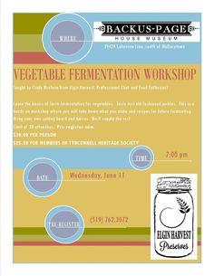 Fermentation Workshop at Backus-Page House June 2014