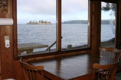 View from the Beach Comer, Beach Haven, ORCAS ISLAND, WA. http://www.beach-haven.com/img/beachcomber_kitchen_waterView.jpg