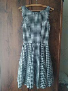 Circle shirt houndtooth rockabilly pin up dress