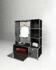 USM modular furniture wardrobe black USM Haller dressing noir