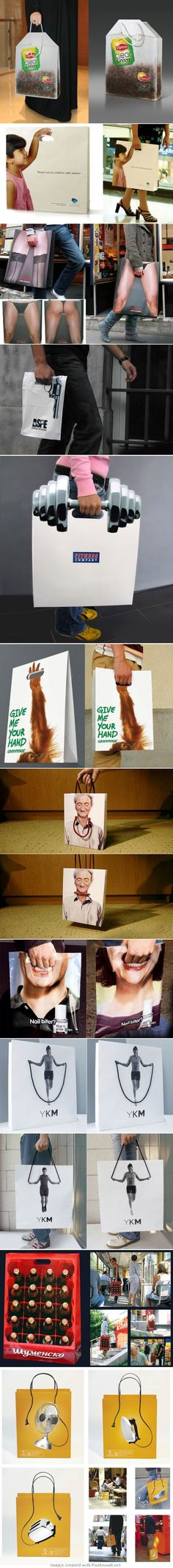 Shopping bag advertising ideas