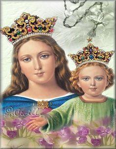 Virgen María Auxiliadora oración para protección, prosperidad y bendición Blessed Mother Mary, Blessed Virgin Mary, Holly Pictures, My Maria, Mary And Jesus, Religious Icons, Alessandra Ambrosio, Roman Catholic, Madonna