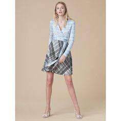 ダイアンフォンファステンバーグ| ラップワンピース Jersey Combo Wrap Dress(Darnley Hortensia Black)【受発注商品】【SALE】