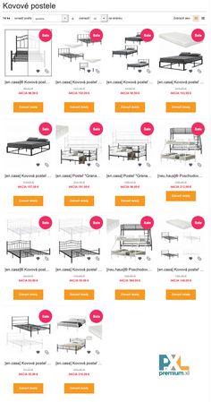 """🆒 🆒 🆒 Kovové postele z našej ponuky pre všetkých milovníkov tvrdého """"metalu"""" a mäkkého matraca. 😉 #premiumxl #premiumxlsk #encasa #posteľ #kovové #akcia #zľava #nábytok #dizajn #štýl Shopping, Design, House"""