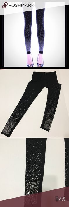 Just in Black Ombré Rhinestone Leggings Make a statement with these Black Ombré Rhinestone Leggings by Vocal! They are uber cute with just the right amount of sparkle to se the night on FIRE! Pair it with a tunic, the on trend matching rhinestone studded tunic, a sexy bralette or half top. You'll be unforgettable and the talk of the party for sure. . True to size, opaque so not see through. Has tons of stretch. 92% Rayon, 8% Spandex. True to size! Hand wash inside out Brand new. NuBella…