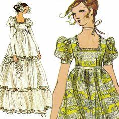 Ultra-Boho Wedding Dress! Vintage 1970s Vogue Bridal Design Sewing Pattern 2460, Misses' Brides' and Bridesmaids' Dresses, Size 12 by karl79 on Etsy