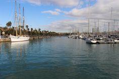 Port Barcelona Meer Blau Boot