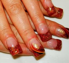 Nail art from the NAILS Magazine Nail Art Gallery, acrylic, Nail Designs 2014, French Manicure Designs, Nail Designs Pictures, Fall Nail Art Designs, Fall Acrylic Nails, Acrylic Nail Art, Gel Nail Art, Acrylic Nail Designs, Gel Nails