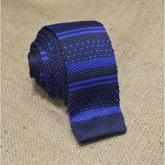 Галстук вязаный с синим узором - купить в Киеве и Украине по недорогой цене, интернет-магазин