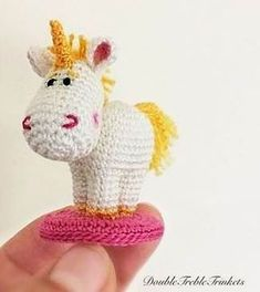 Cute Tiny Unicorn - free crochet pattern