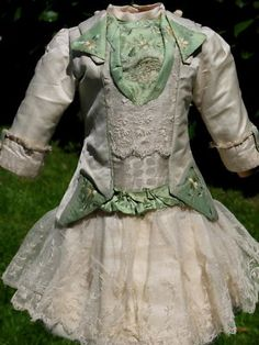 antique doll dress | French Silk Doll Dress,Jumeau.Antique Dolls Completed
