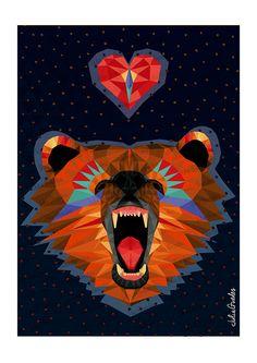 BALTAZAR - Zoométricos on Behance por Julia Guedes #illustration #geometricart #digitalpainting #artprint #geometricanimals #geometricillustration #zoometricos
