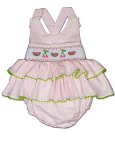 Watermelon & Cherry sun suit. Too Cute!