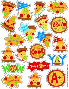 Fun and colorful Eureka Scented Stickers with a long-lasting smell will add an extra touch to graded assignments, classroom crafts and rewards! Each pack includes 80 scented self-adhesive stickers. Individual sticker size varies slightly by design. Teacher Stickers, Reward Stickers, Classroom Rewards, Classroom Crafts, Pizza Party Themes, Valentine Pizza, Vip Kid, Teaching Supplies, Oriental Trading