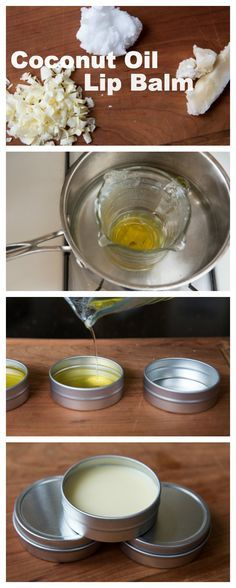 Homemade Coconut Oil Lip Balm