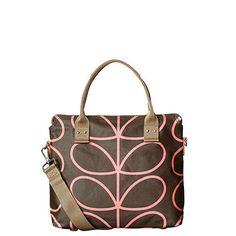 Orla Kiely | USA | bags | SALE - Bags | Giant Linear Stem Zip Messenger (15PELIN100) | nutmeg