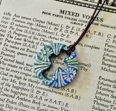 Ceramic Cross Cross Necklace Scripture Jewelry by GospelHymns