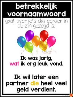 Juf-Stuff: Posters woordsoorten School Info, School Hacks, Back To School, Learn Dutch, Learn English, Escape The Classroom, Afrikaans Language, School Posters, Holland