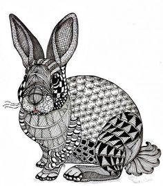 zentangle-rabbit.jpg (500×571)