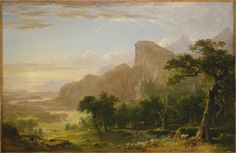 """Asher B. Durand, Landscape—Scene from """"Thanatopsis,"""" 1850  From the Metropolitan Museum of Art."""