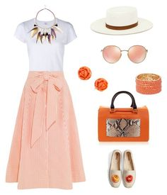 """""""Untitled #1642"""" by bushphawan ❤ liked on Polyvore featuring RE/DONE, Lisa Marie Fernandez, Janessa Leone, River Island, Ray-Ban, Furla and Soludos"""