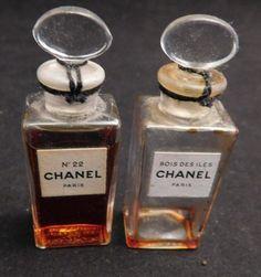 Vintage Chanel Perfume Bottles Vintage 1950's by cerritorose