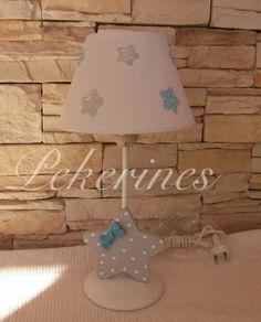 Decoración Infantil Pekerines: Lámpara mesita con estrellitas