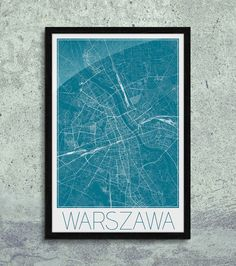 Plakat - mapa - Warszawa  Gdzie kupić? www.eplakaty.pl