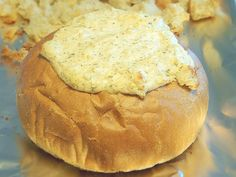 Hot crab dip in a Bread Bowl